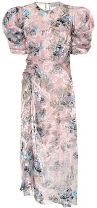 Preen by Thornton Bregazzi Pippa floral silk-blend midi dress