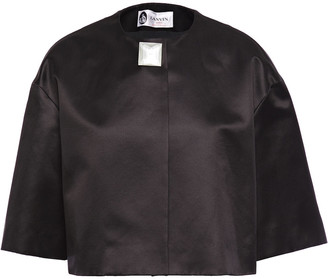 Lanvin Embellished Cotton And Silk-blend Duchesse-satin Jacket