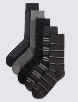 M&s Collection 5 Pairs Of Freshfeettm Cotton Rich Socks