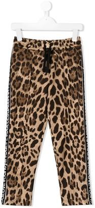Dolce & Gabbana Kids Leopard Print Jogging Trousers