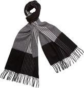 One Kings Lane Striped Cashmere Scarf, Black/Gray