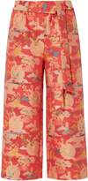 Biba Jacquard oriental cropped trousers