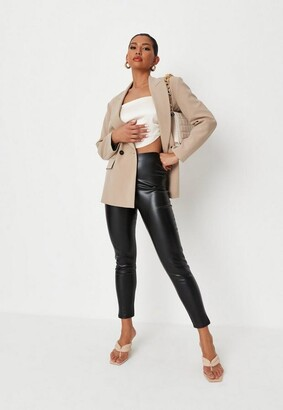 Missguided Black Faux Leather Leggings