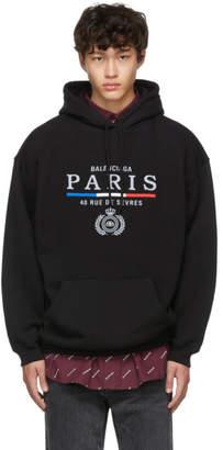 Balenciaga Black Paris Flag Hoodie