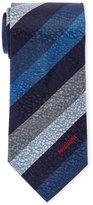 Missoni Blue Multi Stripe Silk Tie
