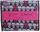 Betsey Johnson White Black Pink Skull Print Full Sheet Set