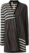 Antonio Marras striped cardi-coat