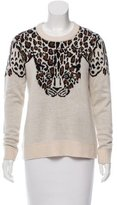 Mara Hoffman Long Sleeve Leopard Print Sweater