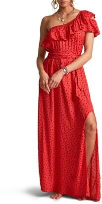 Billabong X Sincerely Jules Your Side One-Shoulder Maxi Dress