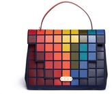 Anya Hindmarch 'Pixels Bathurst' patchwork suede satchel