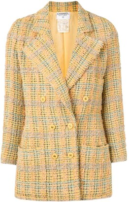 Chanel Pre Owned 1994 Double-Breasted Tweed Blazer