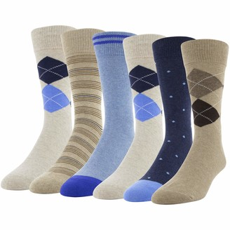 Gildan Men's Fashion Dress Crew Socks