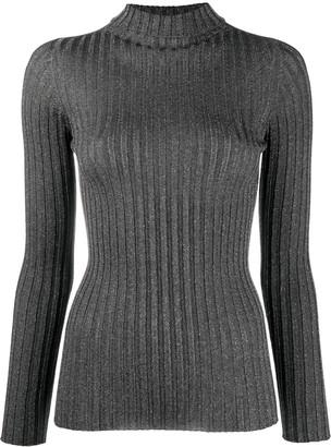 Liu Jo Ribbed-Knit Roll-Neck Top