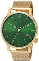 Komono Unisex KOM-W2355 Winston Royale Series Analog Display Japanese Quartz Gold Watch