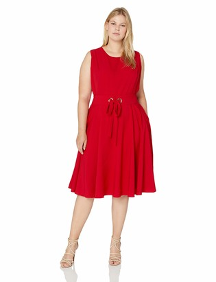City Chic Women's Apparel Women's Plus Size Dress WIMBELDON
