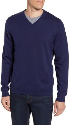Nordstrom Cotton & Cashmere V-Neck Sweater