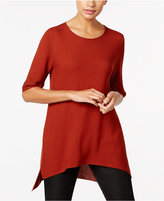 Eileen Fisher Elbow-Sleeve High-Low Sweater