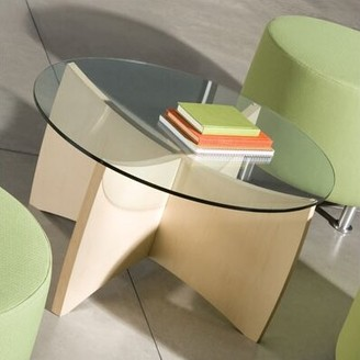 Steelcase Alight Coffee Table Color: Clear Maple