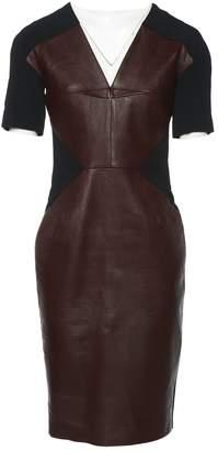 Roland Mouret Burgundy Leather Dresses