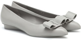 Salvatore Ferragamo Viva leather ballet flats