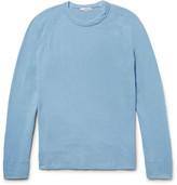 James Perse Loopback Supima Cotton-jersey Sweatshirt - Light blue