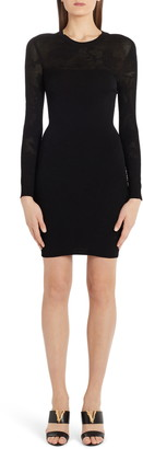 Versace Tattoo Knit Long Sleeve Sweater Dress