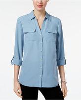 Charter Club Roll-Tab Shirt, Only at Macy's
