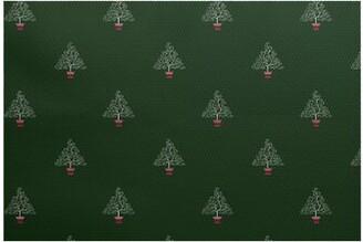 The Holiday Aisle Filigree Tree Flatweave Green Rug Rug Size: Rectangle 2' x 3'