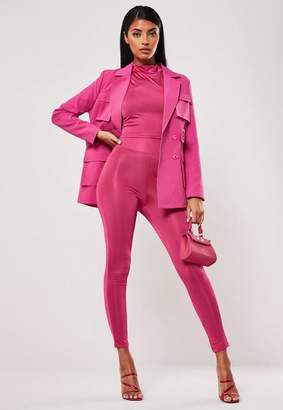 Missguided Pink Co Ord High Waisted Slinky Leggings
