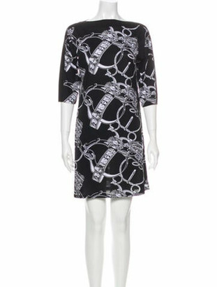 Hermes Printed Mini Dress Black