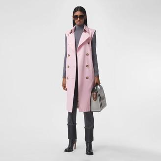 Burberry Sleeveless Cotton Gabardine Trench Coat
