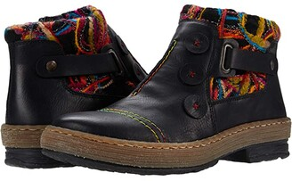 Rieker Z6759 Felicitas 59 (Scwarz/Schwarz/Multi) Women's Pull-on Boots