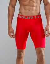 Under Armour Training Heatgear Compression Long Shorts In Red 1289568-600