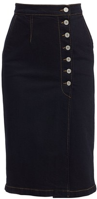 TRAVE Olympia Denim Midi Pencil Skirt