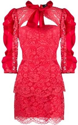 Elisabetta Franchi Short Lace Dress