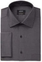 Alfani Black Men's Classic/Regular Fit Performance Black White Diagonal Dot French Cuff Dress Shirt, Only at Macy's