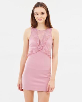 Miss Selfridge Lace Ruffle Dress