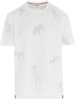 Thom Browne Animal Print Crewneck T-Shirt