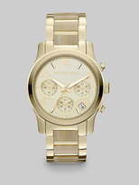 Runway Goldtone and Faux Horn Chronograph Bracelet Watch