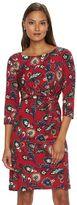 Dana Buchman Petite Printed Faux-Wrap Dress