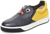Fendi Men's Leather Slip-On Sneaker