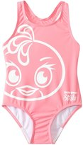 Angry Birds Stella Girls' Fly Girl Wide Strap Swimsuit (4yrs6X) - 8132838