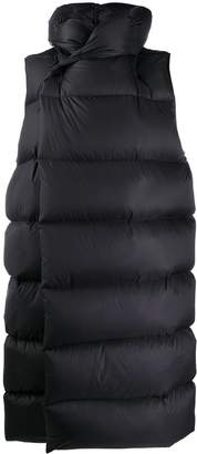 Rick Owens Puffer-Style Long-Line Gilet