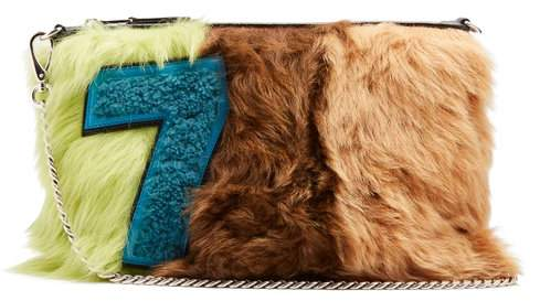 Miu Miu - Tri Colour Smooth Shearling And Leather Pouch - Womens - Multi