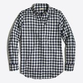 J.Crew Factory Petite gingham button-down shirt in boy fit