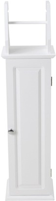 Lloyd Pascal Devonshire Toilet Roll Holder and Store - White