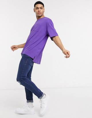 Esprit oversized boxy fit t-shirt in purple