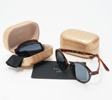 Neox Set of 2 Folding Sunglasses with Crocodile Case by Lori Greiner