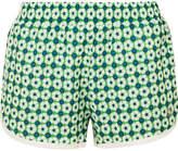 Tory Sport Floral-print Shell Shorts - Green