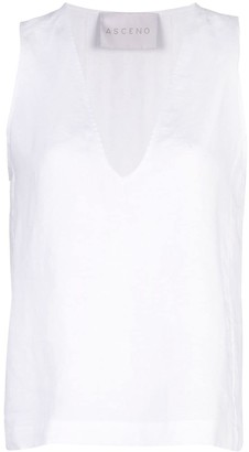 ASCENO Sleeveless V-Neck Top